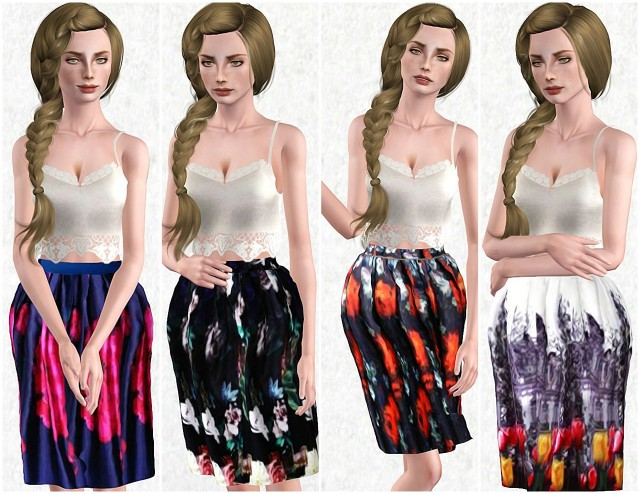 Midi Skirt Pack 1 by thewaysofthesims