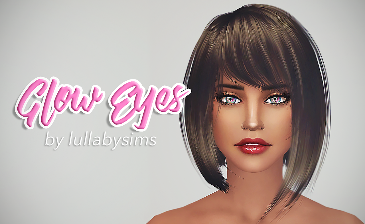 Glow Eyes - Contacts for TS4 by lullabysims