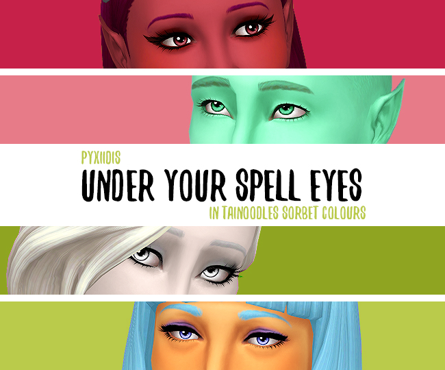 Pyxiidis 'Under Your Spell' Eyes, In Tainoodles Sorbet Colours by apolunesims