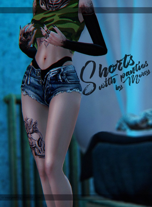 Shorts with panties by Mercy