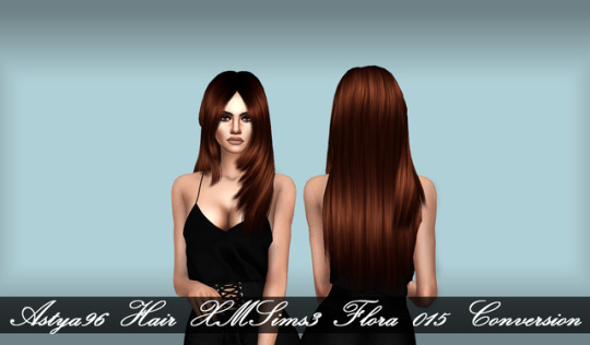 Xmsims3 Hair Flora015 Conversion by Astya96