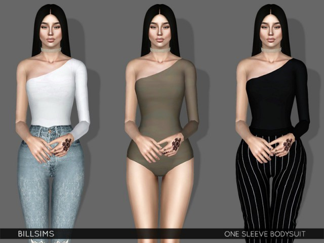One Sleeve Bodysuit by Bill Sims