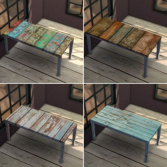 Wood dining table part 1 by yewonssims