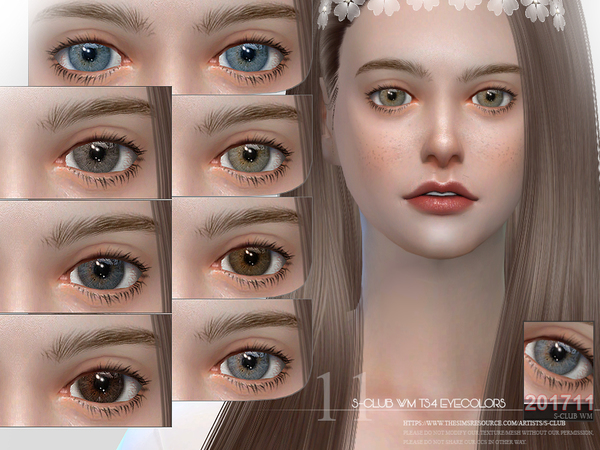 S-Club WM ts4 Eyecolors 201711