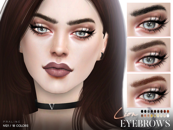 Lion Eyebrows N121 by Pralinesims