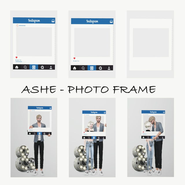 Photo frame & poses by Ashe