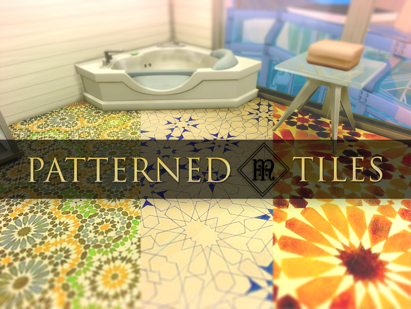 PATTERNED TILES BY MELLIOS