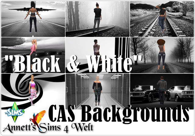 "CAS Backgrounds ""Black & White Pictures"" by Annett85"