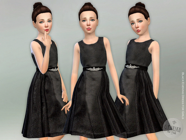Black Evening Dress for Girls by lillka
