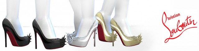 CHRISTIAN LOUBOUTIN ASTEROID PUMPS by MrAntonieddu