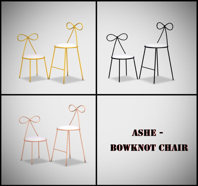 Bowknot chair by Ashe