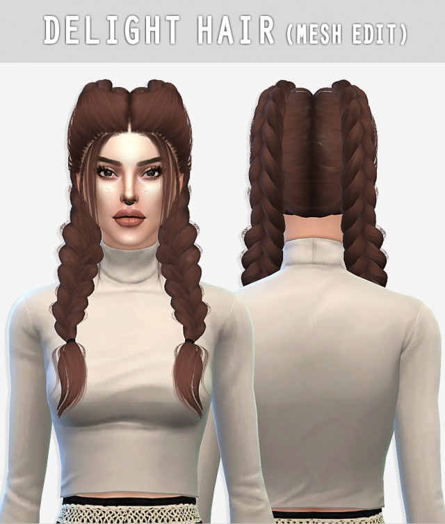 DELIGHT HAIR (MESH EDIT) by arthurlumierecc