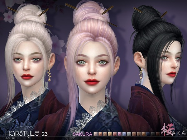 S-Club ts4 hair Sakura n23
