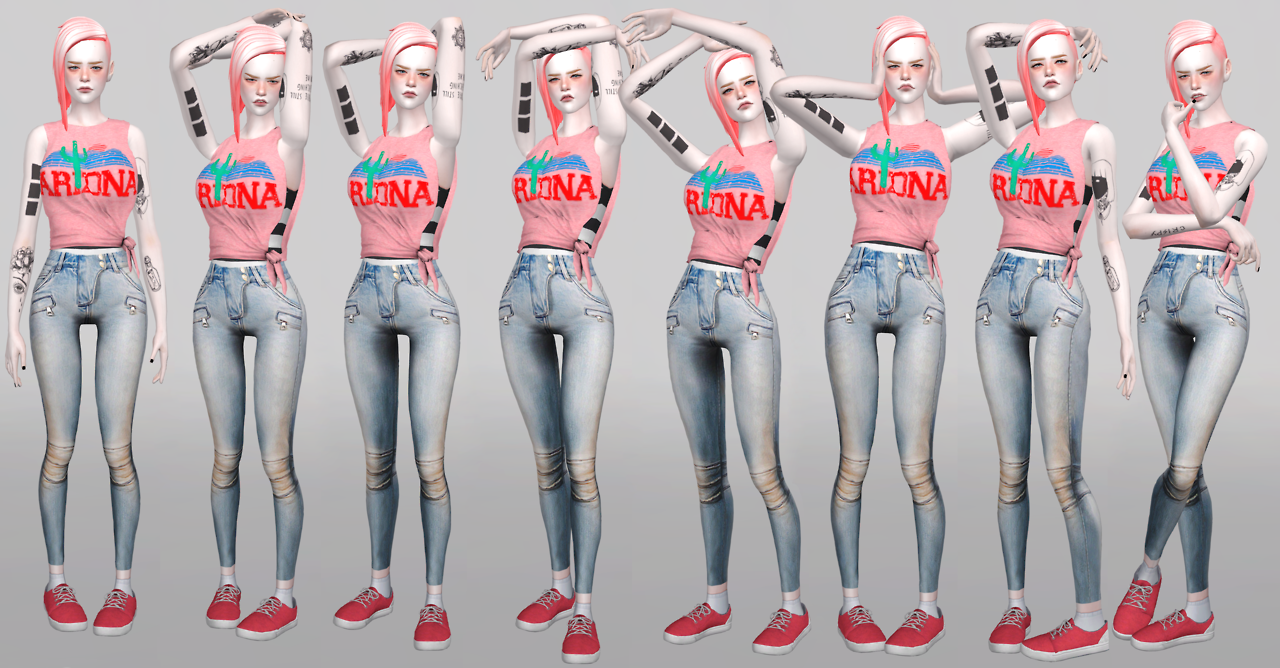 Poses for traits Dancing Machine by magic-bot