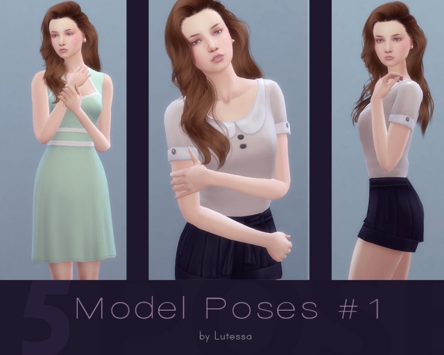 Model Poses #1 by Lutessa