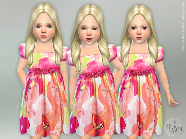 Poppy Floral Dress for Toddler by lillka