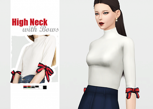 High Neck with Bows by Waekey
