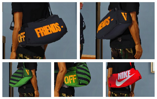 VLone x OFF White Duffle Bags by guttasims