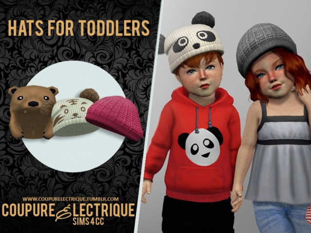 ts3 to ts4 hats for toddlers by Coupure Electrique