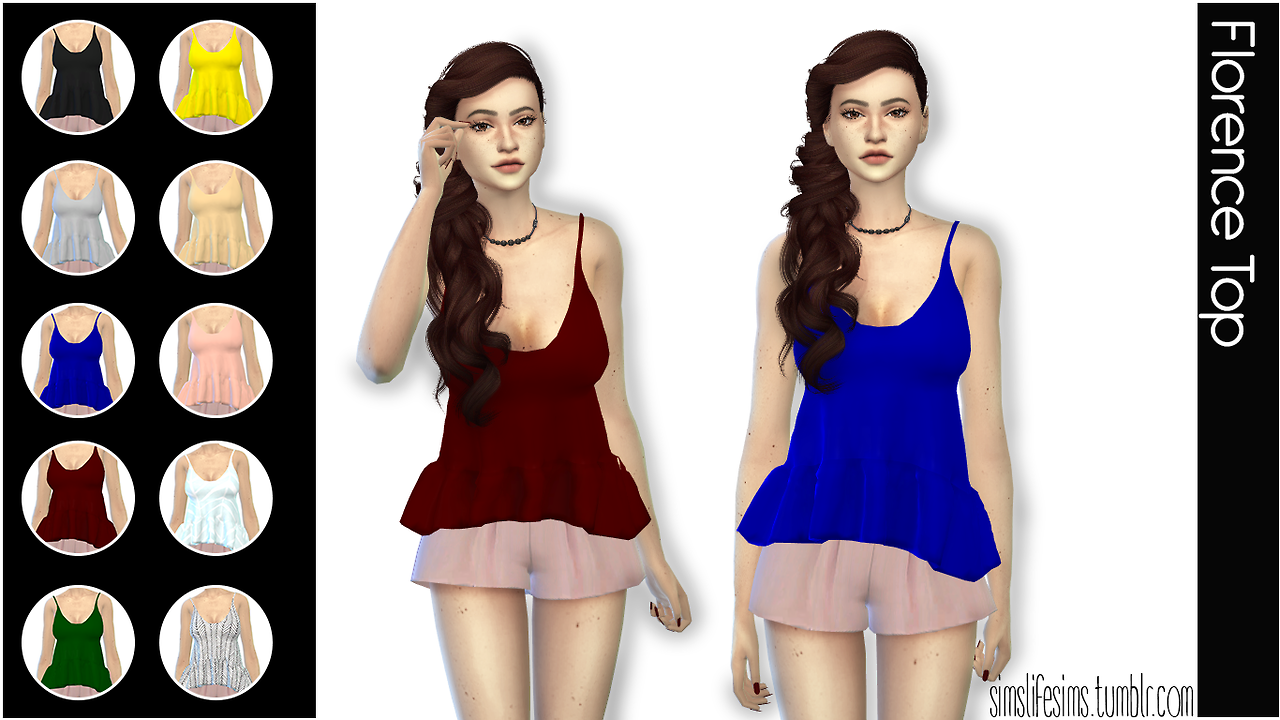 Florence Top by simslifesims
