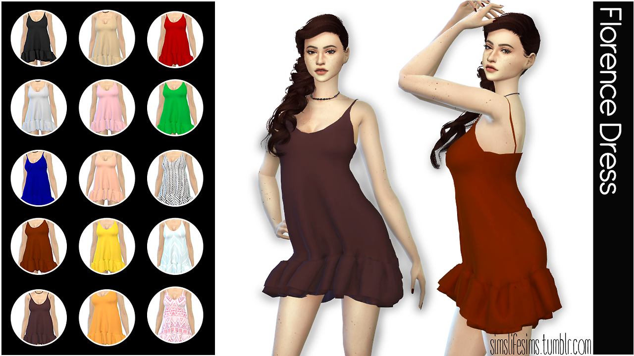 Florence Dress by simslifesims