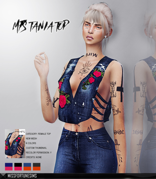 MFS TANIA TOP by missfortunesims