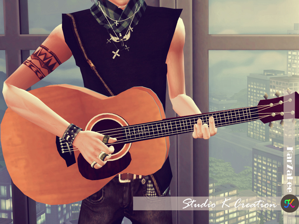 Basic handle guitar - new(S4CC) by karzalee