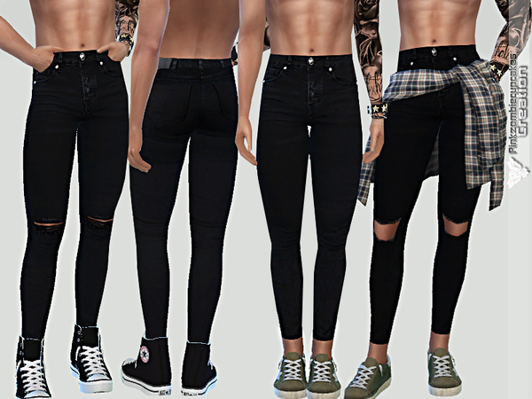 Summer Black Denim For Him by Pinkzombiecupcakes