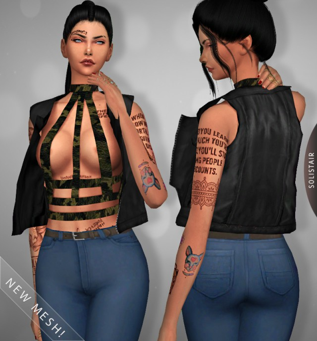 Rocker Harness + Vest (New meshes!) by solistair