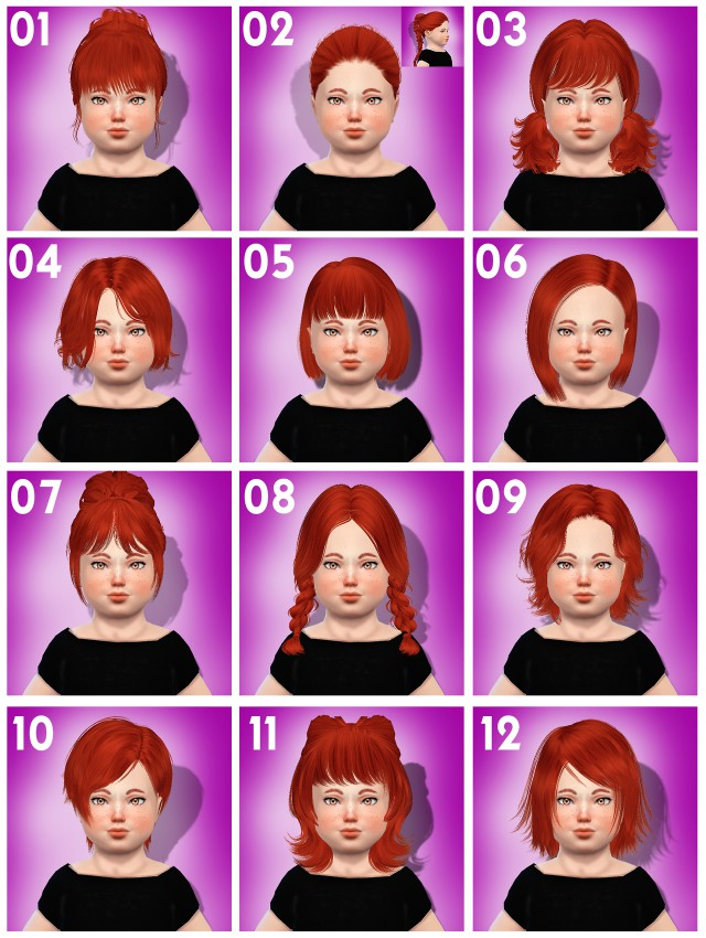 TODDLER HAIR PACK by Coupurelectrique