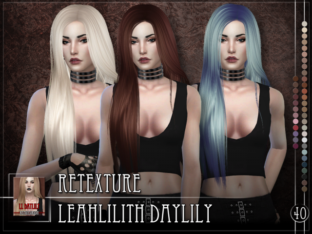 Leahlilith Daylily - Retexture by RemusSirion