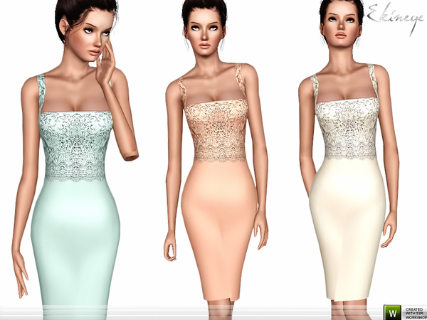Lace Bodice Dress by ekinege