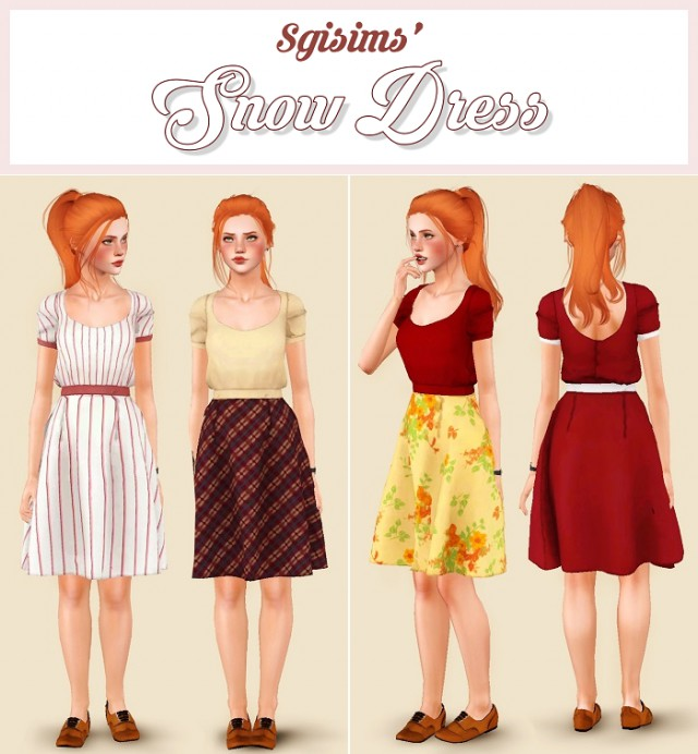 Snow Dress by SgiSims