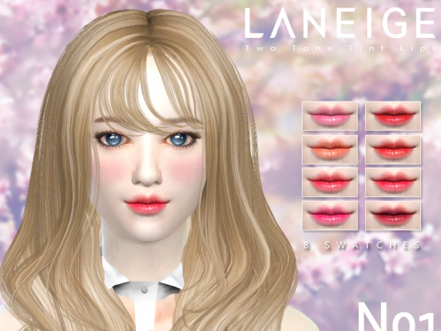 Two Tone Tint Lips N01 by iCedxLemonAde
