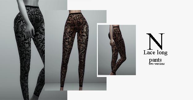 Lace long pants by nyltiacsims