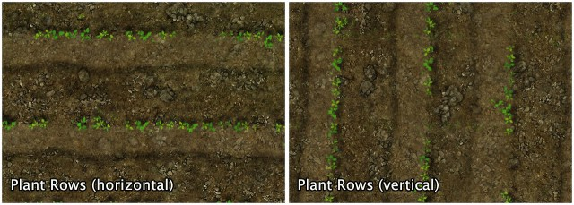 Grass Dirt Plant Rows Wild Vegetation by sweetdevil-sims