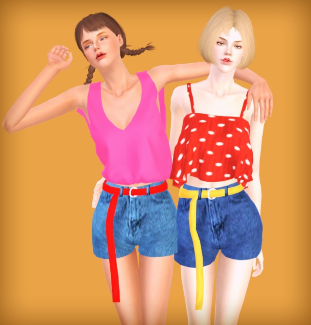Marigold RetroLongBeltHotPants conversion (TS4 → TS3) by Codelsims