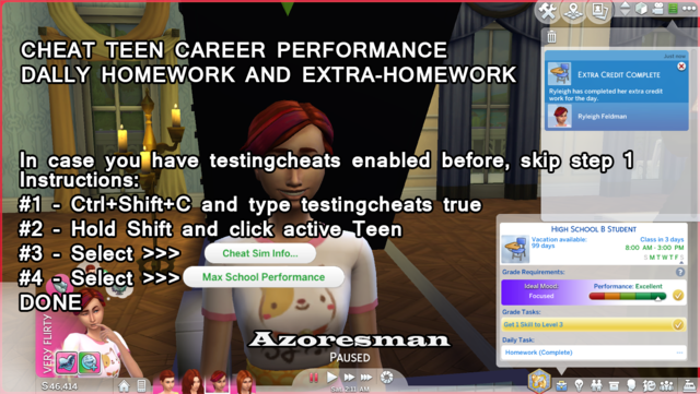 Cheat Teen HighSchool Performance and Homework fully done for the day by azoresman