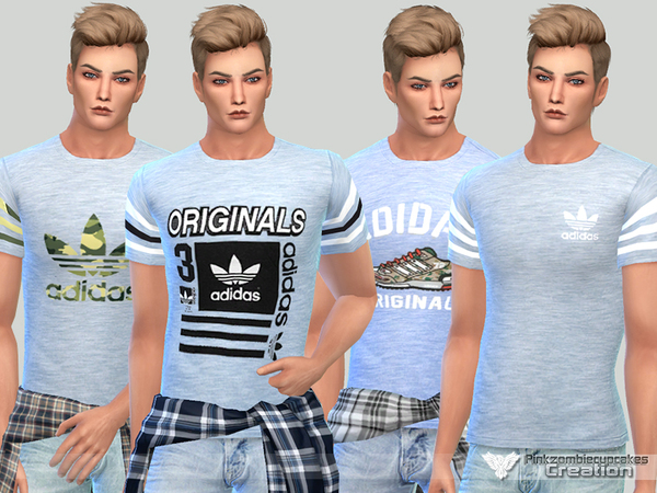 Summer Adidas Tees For Him by Pinkzombiecupcakes