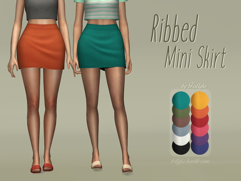RIBBED MINI SKIRT by trillyke