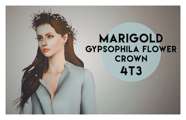 4t3 conversion of marigolds gypsophila flower crown by deggdegg
