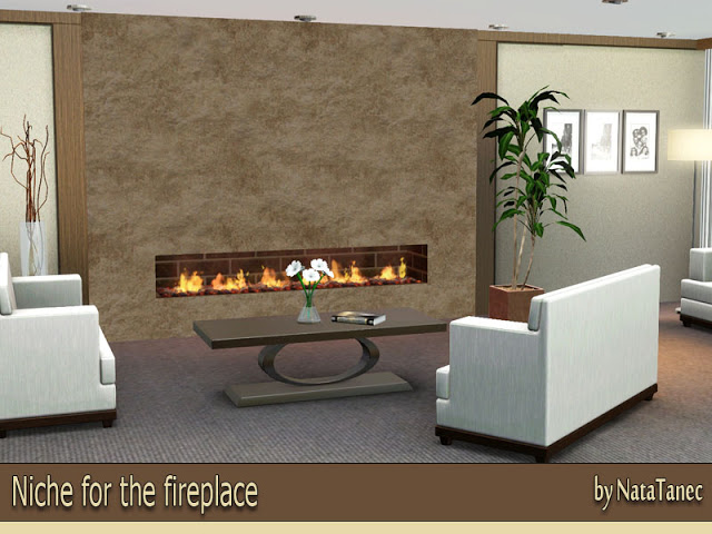 Niche for an improvised fireplace by Natatanec