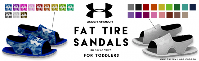Under Armour Fat Tire Sandals for Toddlers by OnyxSims
