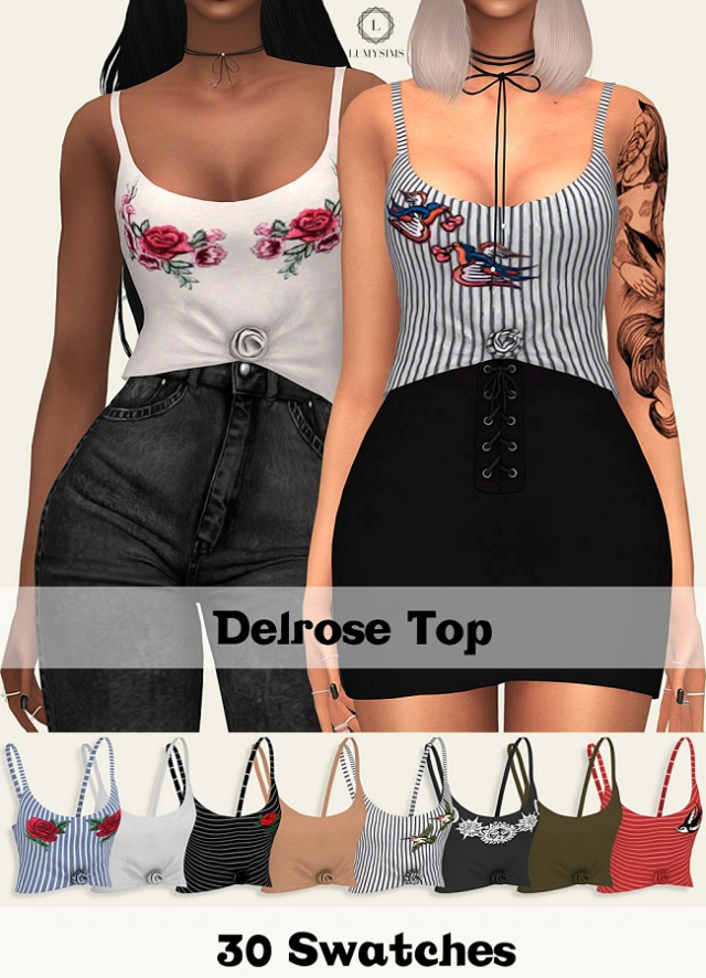 DELROSE TOP by Lumy-sims