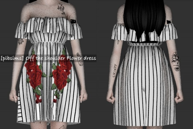 OFF THE SHOULDER FLOWER DRESS by plbsims