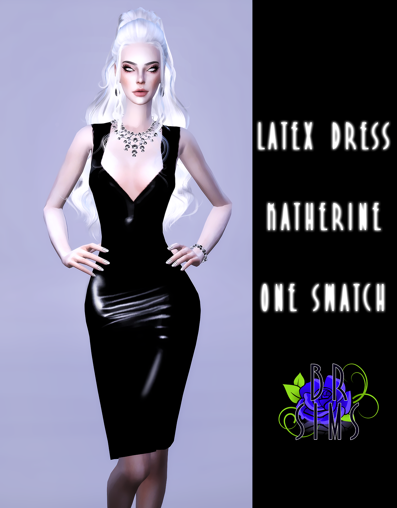Katherine Latex Dress by bluerose-sims