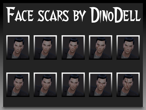 Face scars by DinoDell