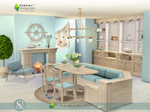 Coastal Dining room by SIMcredible