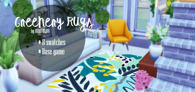 GREENERY RUGS by ohmyblob