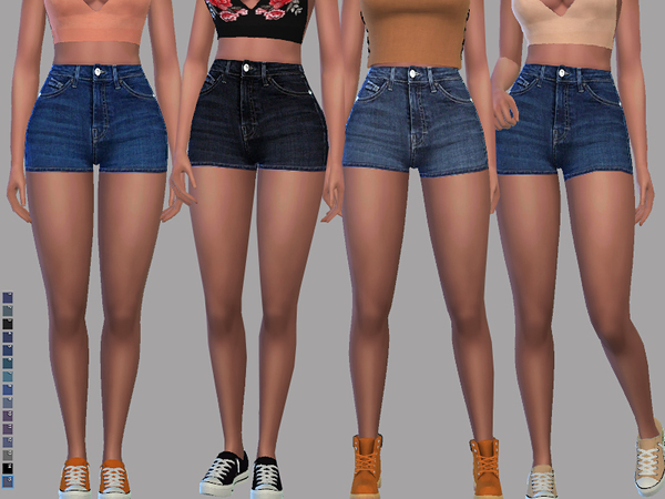 Madison (Denim Shorts) by Pinkzombiecupcakes